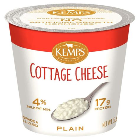 cottage cheese cottage cheese single serve 4 5 64 oz kemps