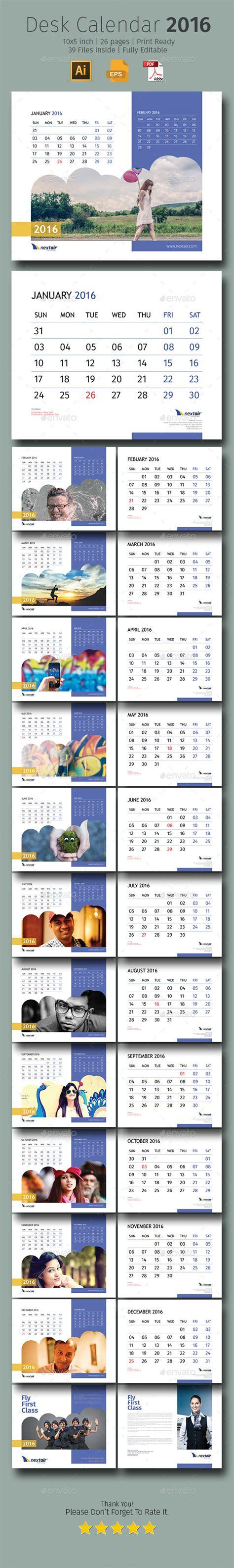 Layout Desk Calendar | 2016 desk calendar design download http graphicriver