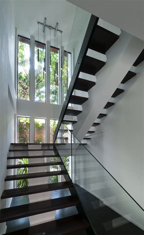 staircase design inside home interior concrete staircase with wooden steps and glass
