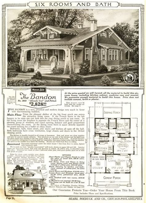 sears floor plans the bandon house from sears craftsman bungalow homes
