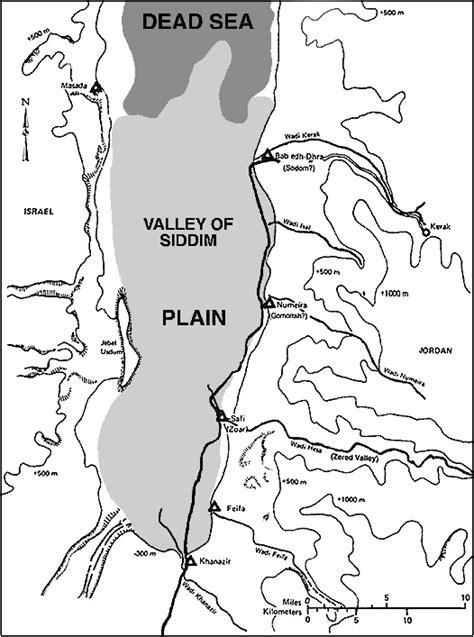 sodom and gomorrah map of sodom and gomorrah