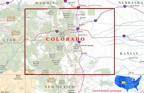 state map of colorado colorado maps