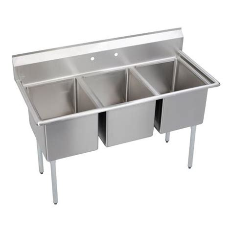 Three Compartment Kitchen Sink Elkay 14 3c18x24 0x 63 In 3 Compartment Sink Etundra