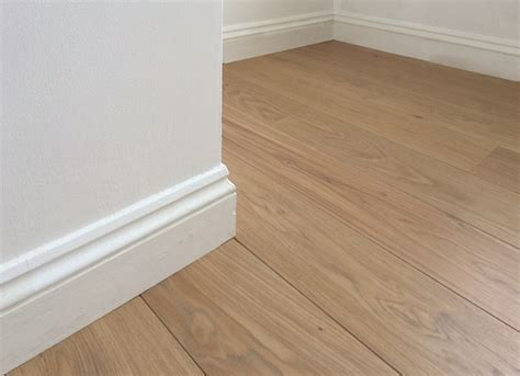 Fitting wood flooring under skirting boards   Fine Oak