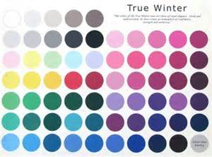 cool winter color palette true cool winter color palette color analysis true