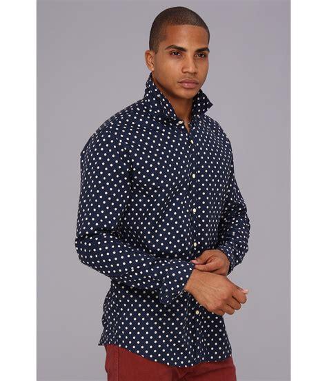 Blue Collor Dot Shirt scotch soda polka dot bow tie shirt in blue for lyst