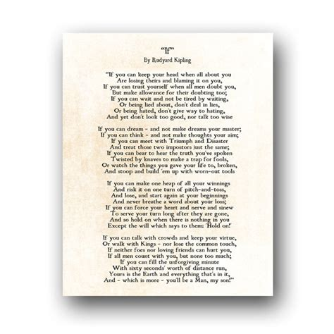 testo you da one if rudyard kipling poem inspirational quote literary quote