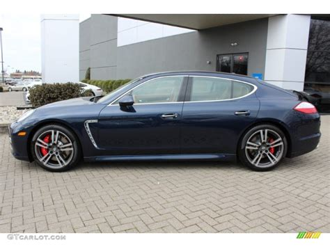 Dark Blue Metallic 2012 Porsche Panamera Turbo Exterior