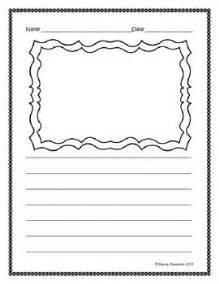 Drawing And Writing Paper Freebie Writing Paper Lined With Drawing Frame Click On