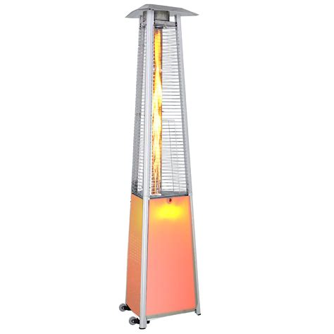 12 Color Led Light Show Contemporary Triangle Design Decorative Patio Heaters