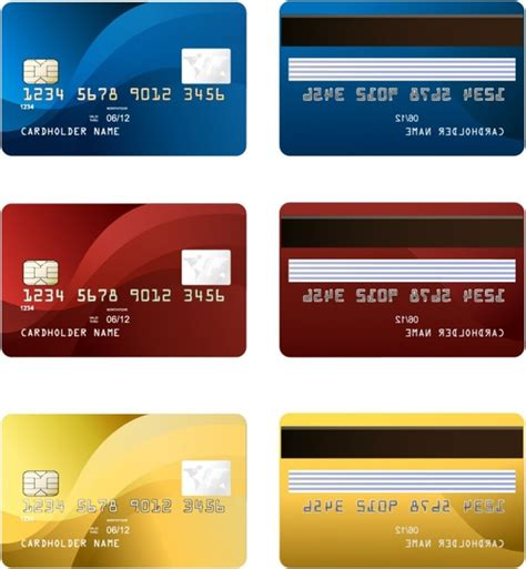 credit card template vector vector credit card two sides free vector in adobe