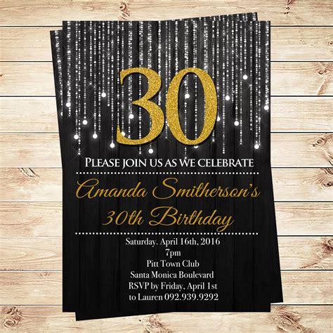 Adult Birthday Invitation 30th Birthday Invitations New Birthday Card New Birthday Card 30th Invitations Templates