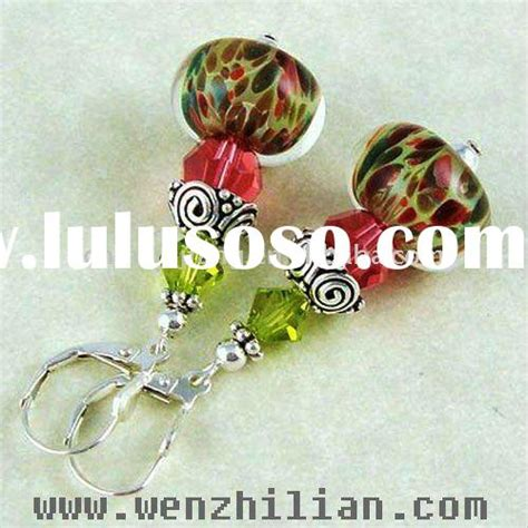 Catily Clear Glasses In Space Earrings 2 glass beaded paper glass beaded paper manufacturers in