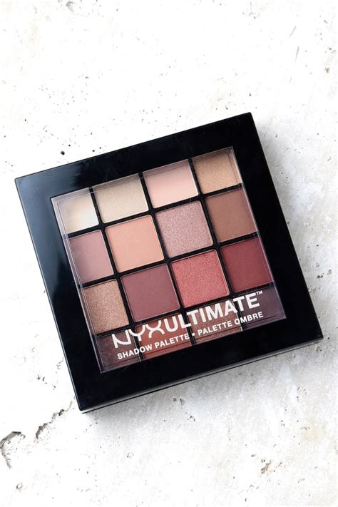 Nyx In Eye Shadow Palette Escape With nyx ultimate warm neutrals shadow palette neutral eye