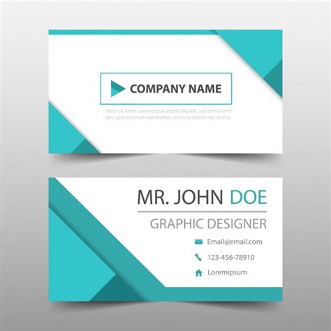free downloads for card geometric style turquoise business card vector free