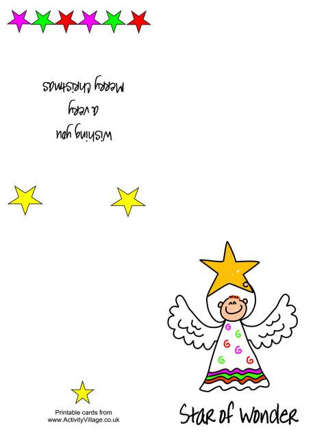 printable christmas cards activity village printable christmas card star of wonder