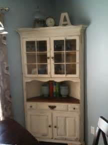 Corner china cabinets china cabinets and milk paint on pinterest