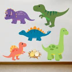 children s dinosaur wall sticker set by oakdene designs children s wall stickers parkins interiors