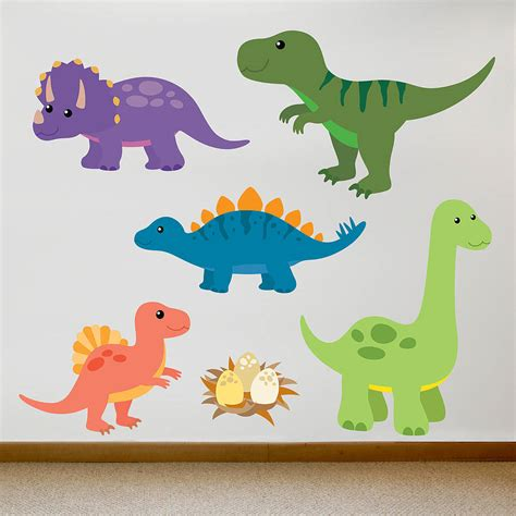 dinosaur wall stickers children s dinosaur wall sticker set by oakdene designs