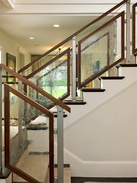 glass banister cost boston glass railing cost staircase contemporary with