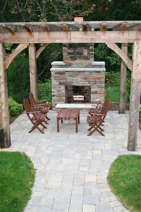 Patio Ideas With Fireplace by Outdoor Fireplace
