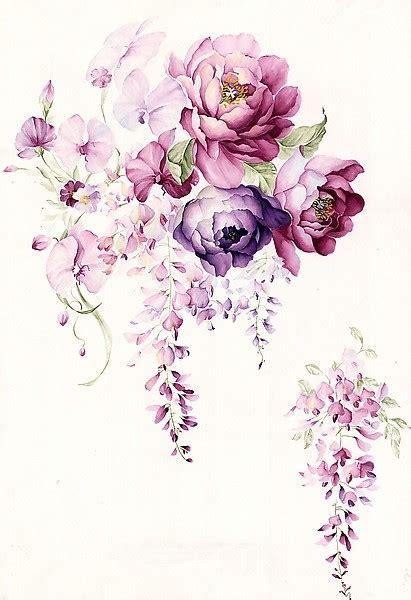 wallpaper flower tattoo floral watercolor hand painted flower garden wallpaper
