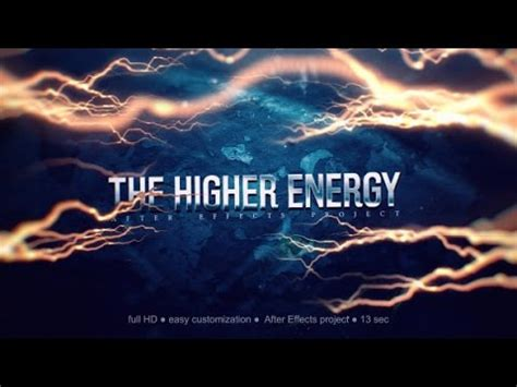The Higher Energy Trailer And Titles After Effects Project Videohive Template Youtube Trailer Template After Effects Project