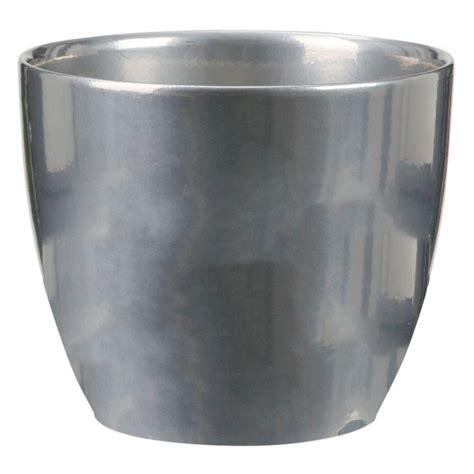 10 ceramic pot 10 in dia metal ceramic pot 48578 the home depot