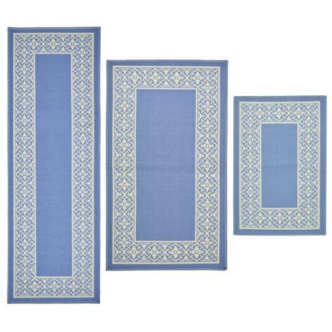 3 area rug sets home 3 tripoli blue area rug set reviews