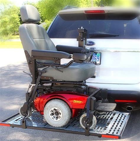 Wheelchair Carriers Patriotic Electric Lift Outside