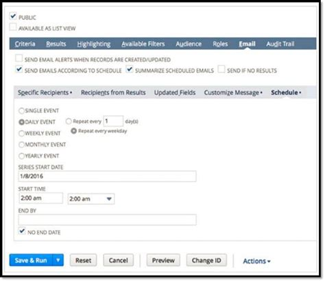 Search Email Alert Creating Employee Based Searches In Netsuite