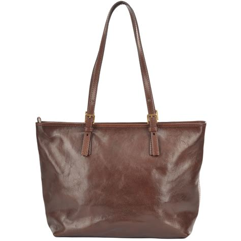 medium italian leather tote bag brown 04903501 the