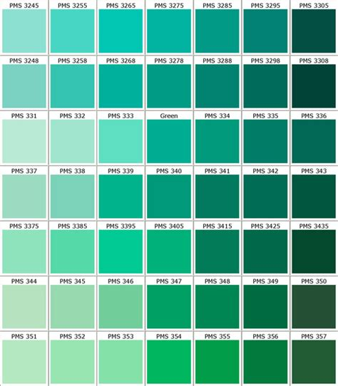 pantone color palettes pantone greens my favorite color palette in the whole