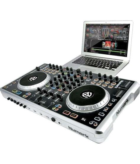 dj deck controller numark 4 deck digital dj controller and mixer buy numark