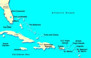 map of eastern us and caribbean best cruise destination for your cruise
