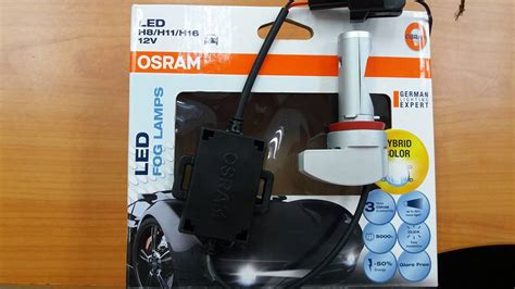 Led Osram Fog L H8 H11 H16 12 Volt osram ledriving retrofit led fog l bulbs h8 h11 h16 cold white hybrid color 5000k 12v 10w