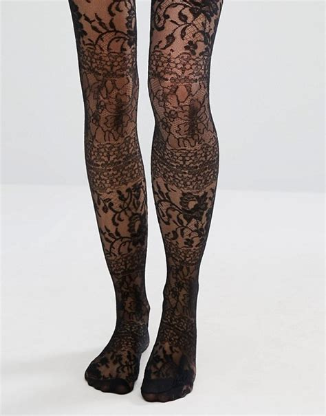 asos patterned leggings asos asos lace over the knee tights