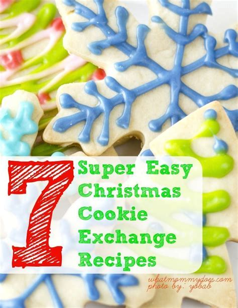 7 super easy christmas cookie exchange recipes