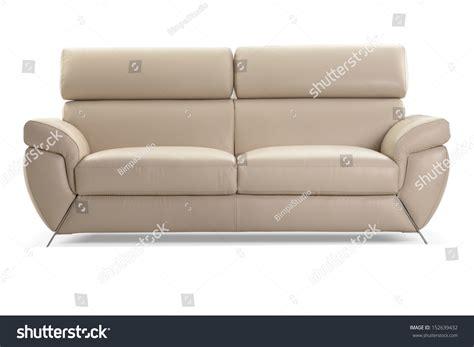 modern leather sofa isolated on white background