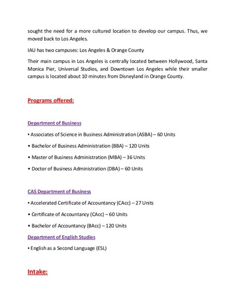 Mba Programs In Orange County California by International American