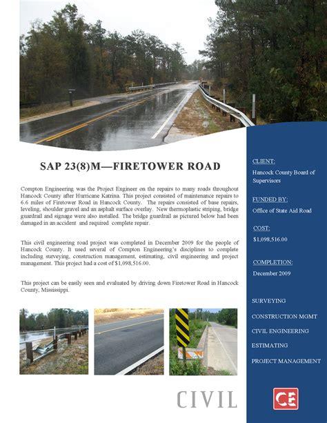 St County Civil Search Sap 23 8 M Firetower Road Hancock County Compton Engineering