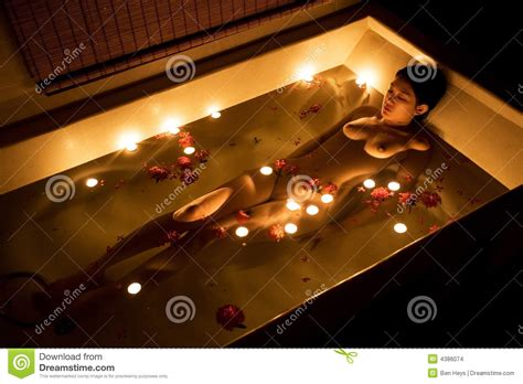 romantic bathtubs romantic bath stock images image 4386074