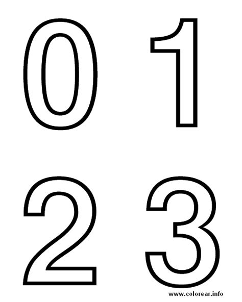 imagenes para colorear numeros numeros abecedario dibujos e imagenes para ni 241 os para pintar