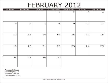 February 2012 Calendar January 2012 Catriona Child