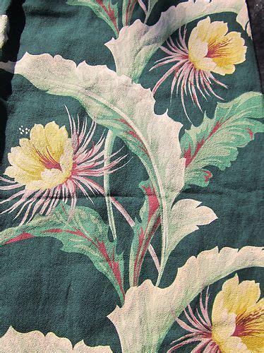vintage 40 s 50 s green hawaiian barkcloth drapery fabric 42 quot x78 quot ebay hawaiiana style
