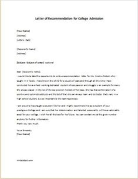 Recommendation Letter For College Entrance Letter Of Recommendation For College Admission Writeletter2