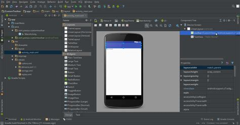 toolbar layout xml membuat custom toolbar android