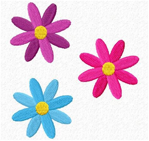 3 flowers freeembroiderydesigns