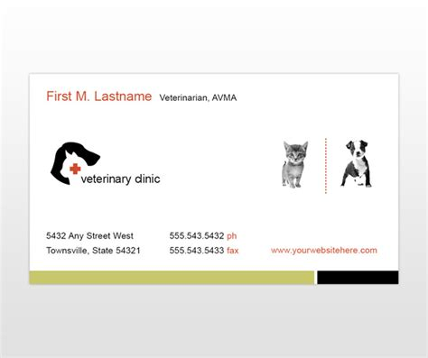 animal business card templates free veterinary hospital clinic business card templates