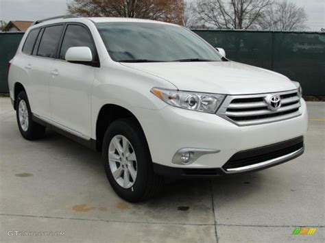 toyota white car white toyota highlander limited free download image about